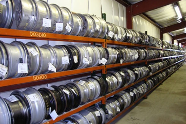 Rims / wheels stored in the ToyAuto Mart warehouse
